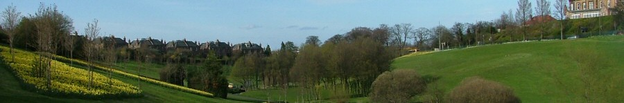 View of Braidburn Valley Park - April