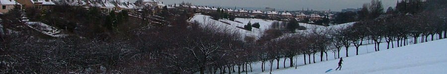 View of Braidburn Valley Park - January