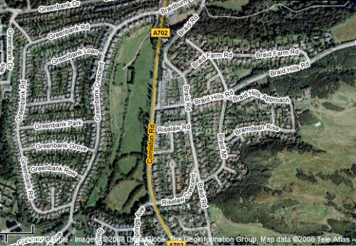Google map of Braidburn Valley Park