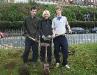 Duke of Edinburgh volunteers planting bulbs December 2007