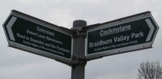 Signpost in the park