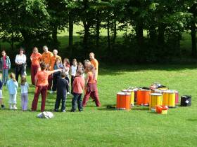 Samba band playing in the Park