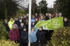 Green Flag Raising Ceremony Jan 2008. (Photo - Edinburgh Evening News)