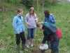 Children from the local school planting birch trees