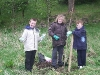 Primary 7 children planting Trees 2007