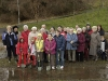 Replacement cherry tree planting 26.1.08. (Photo - Edinburgh Evening News)
