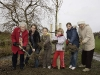Replacement Cherry Tree Planting (26.1.08). (Photo - Edinburgh Evening News)