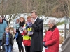 Deputy Lord Provost at Replacement Cherry Tree planting 27th Feb 2010