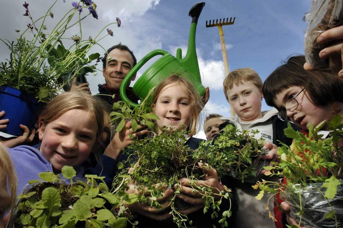 Wild flower planting. (Photo - Edinburgh Evening News)