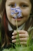 Admiring a bluebell. (Photo - Edinburgh Evening News)