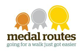Logo for medal routes walking