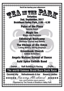 Tea in the Park 2017 Braidburn Valley Park Edinburgh